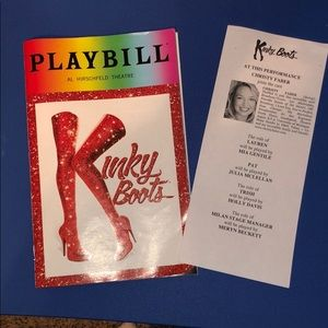 Kinky Boots the Broadway Musical Pride Playbill